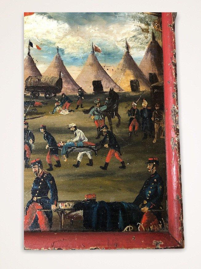 Souvenir De Vouziers Painting On Wood-photo-7