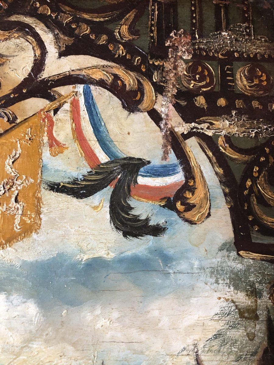 Souvenir De Vouziers Painting On Wood-photo-8