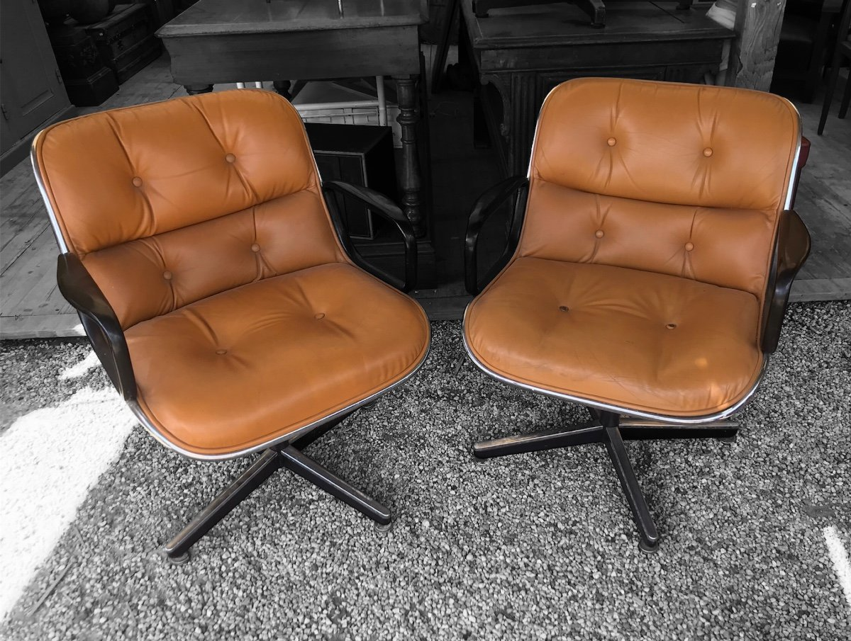 Fauteuil Charles Pollock Pour Knoll International