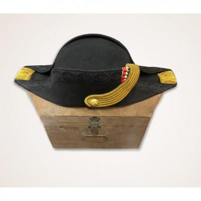 Hat Of An Officer Of The Navy  And Its Box XIX Century