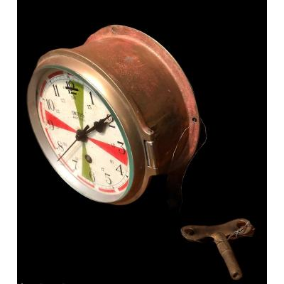 Marine Smiths Astral Clock With Its Key