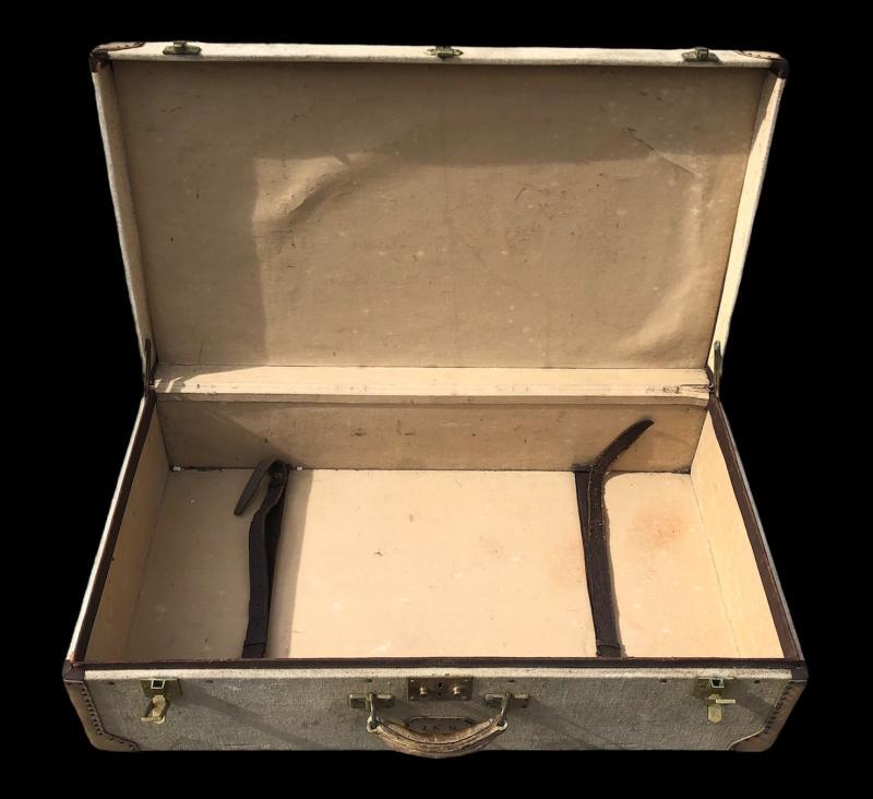 Valise Hermès Années 1930 Initiales Jkb-photo-4