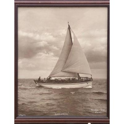 "Photograph By Beken Son Of Cowes From The ""corserine"" Sailboat"