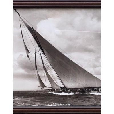 """Photographie Du Voilier """"britannia 1924"""" De Beken Of Cowes"""