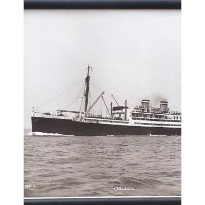 "Photograph Of Beken Of Cowes Steam Boat ""orinoco"""
