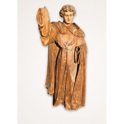 Polychrome Wood Statue Of Saint Vincent Ferrier