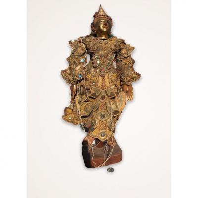 Marionnette De Myanmar Et Son Socle Années 1920/1930