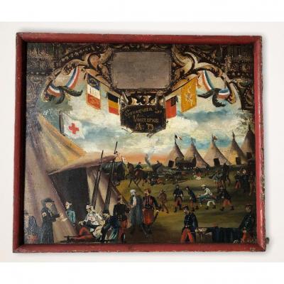 Souvenir De Vouziers Painting On Wood