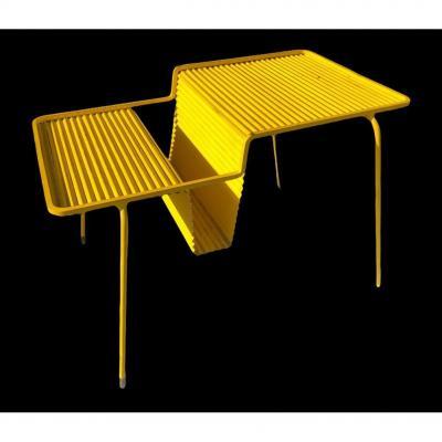 Mathieu Mategot Corrugated Sheet Coffee Table Java Model 1955