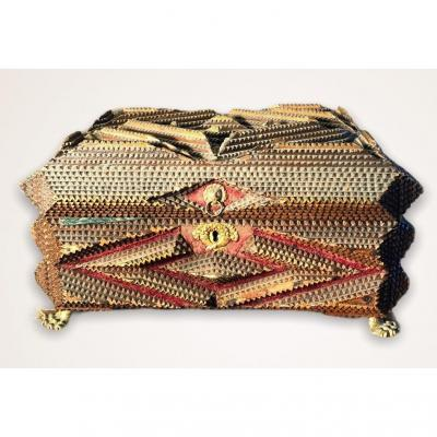 Handcrafted Wooden Jewelry Box 1891