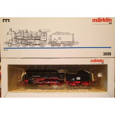 Marklin Ho Ref 3098 Locomotive 230 Type Br38 With Its Tender