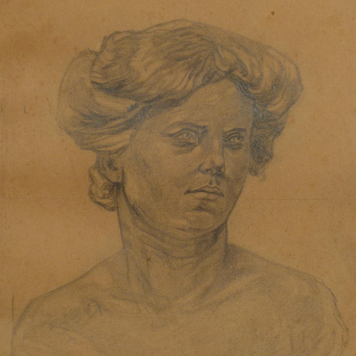 Dessin Portrait De Femme XIX