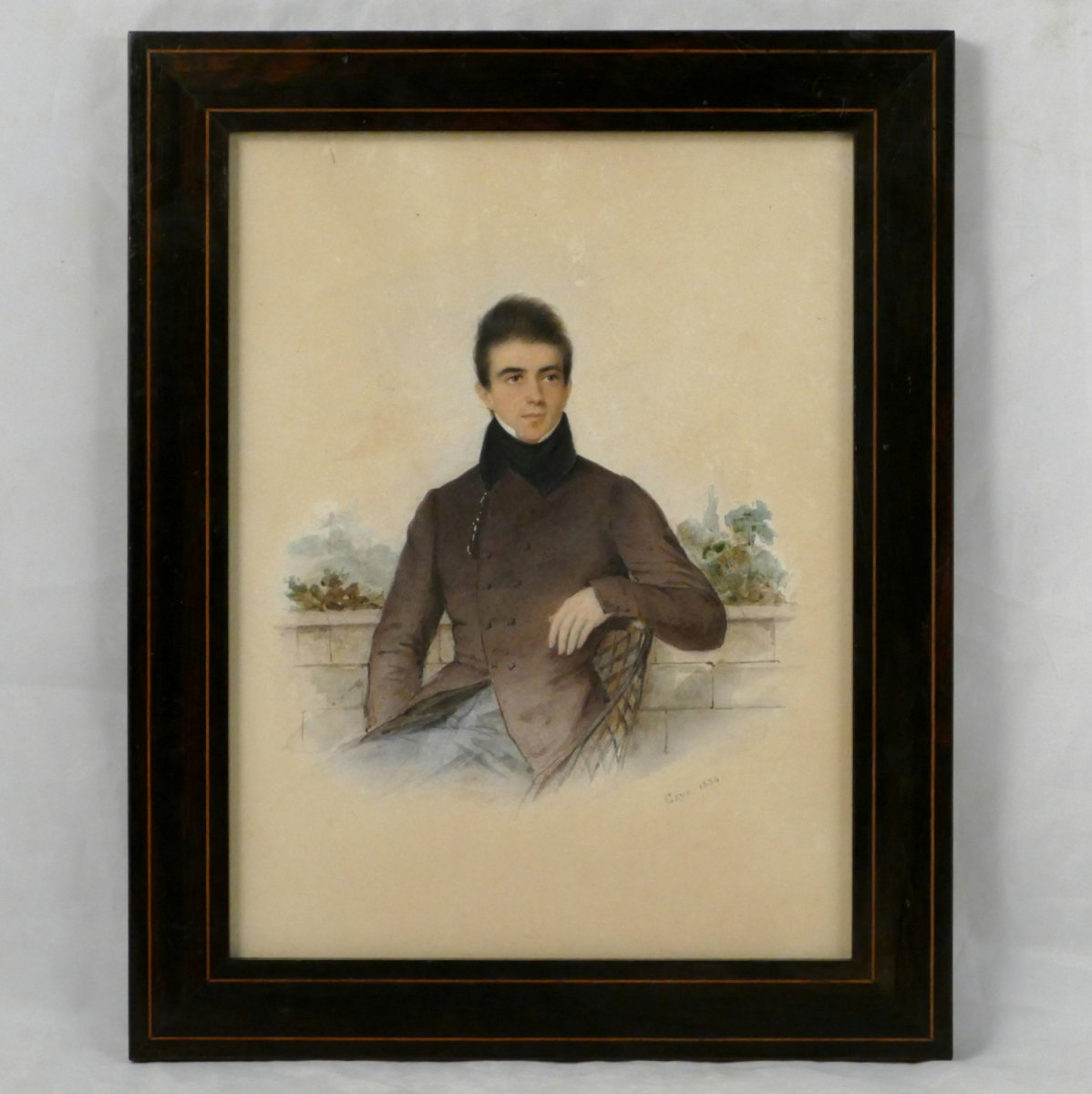 Joseph Gaye, Portrait Of A Handsome Young Man, 1854.