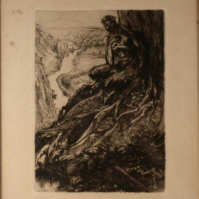 Luc LAFNET (1899-1939) Eau forte, signée et numérotée.