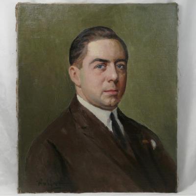 Max Wulfart (1876-1955) Portrait d'Homme Hst.