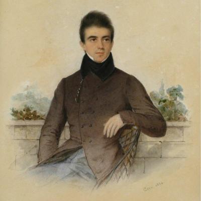 Joseph Gaye, Portrait d'Un Beau Jeune Homme, 1854.