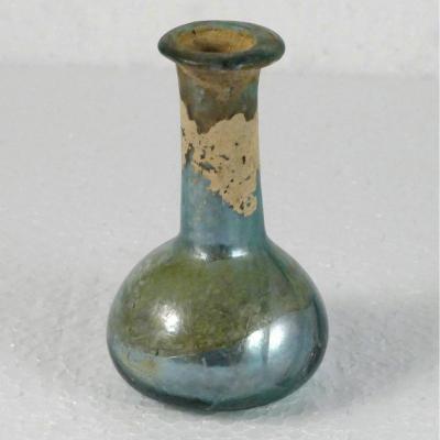 Balsamaire In Iridescent Glass, Roman Period, Ii-iiiè Century, N ° 4