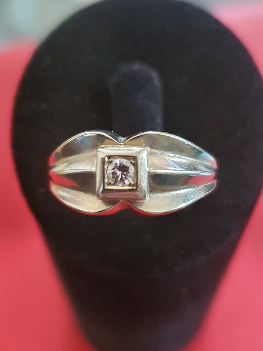18ct Gold Ring Set With Old Cut Diamond