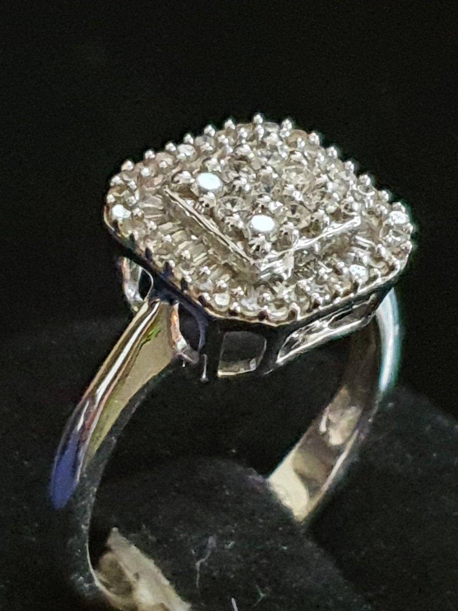 bague en or 18ct sertie d un pavage de diamants-photo-3