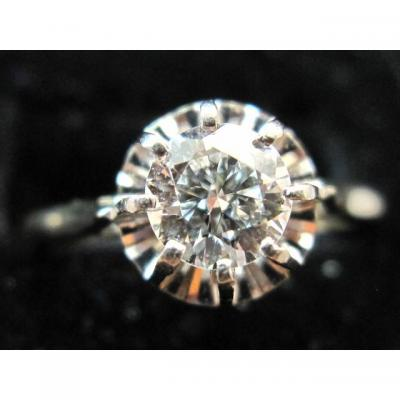 "Bague ancienne or 18ct bague diamant ""Taille Ancienne"" 0.45ct"
