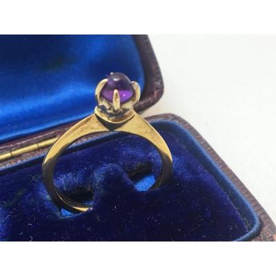 18ct Gold Ring Set With Amethyst