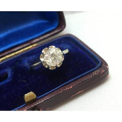 18ct Gold Imitation Diamond Stone Ring 1930