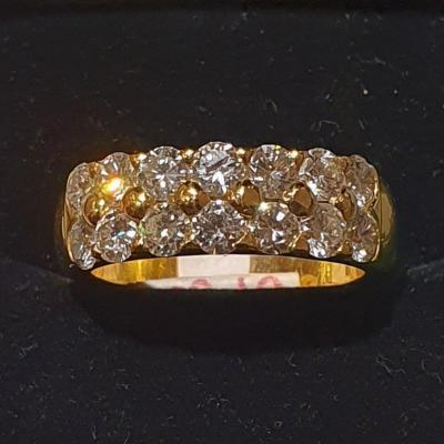 Bague en or 18ct sertie diamants taille moderne