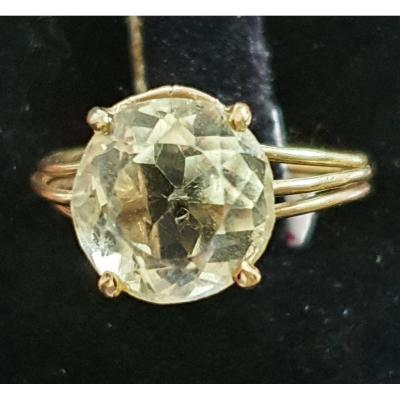 18ct Yellow Gold Ring Set With A Citrine