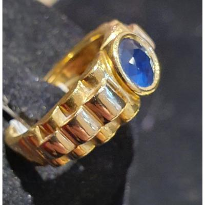 18ct Gold Ring Set With A Sapphire