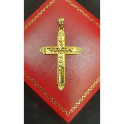 Croix Ouvragée,  En Or 18ct,jaune
