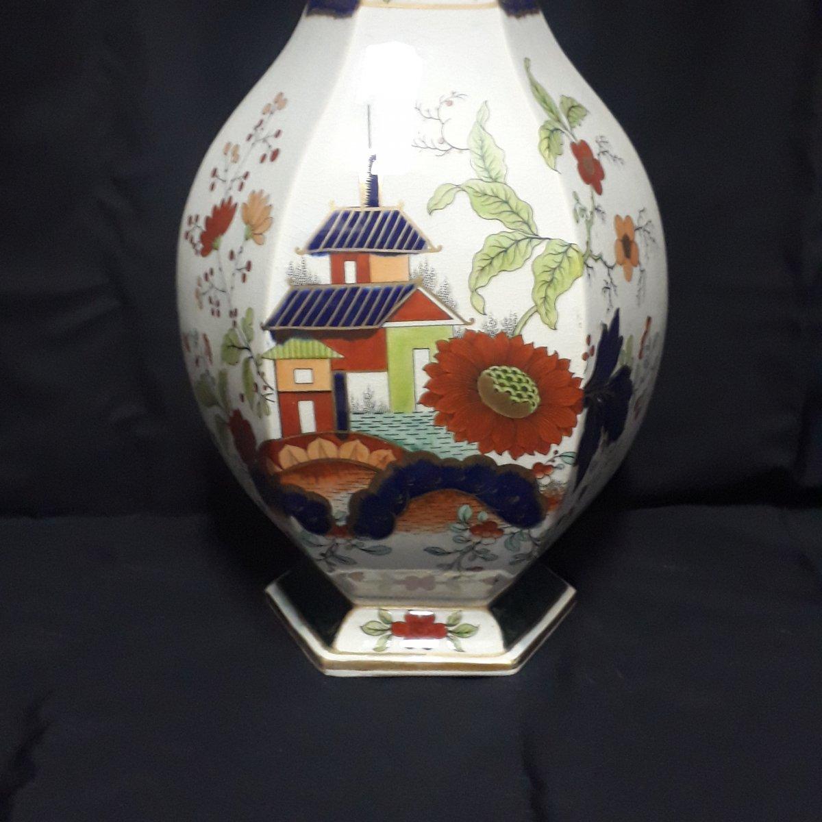 Japanese Decors Vase By Creil Et Montereau-photo-2
