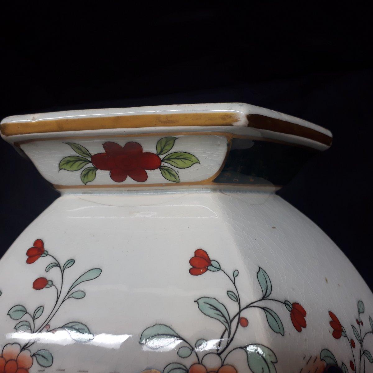 Japanese Decors Vase By Creil Et Montereau-photo-3