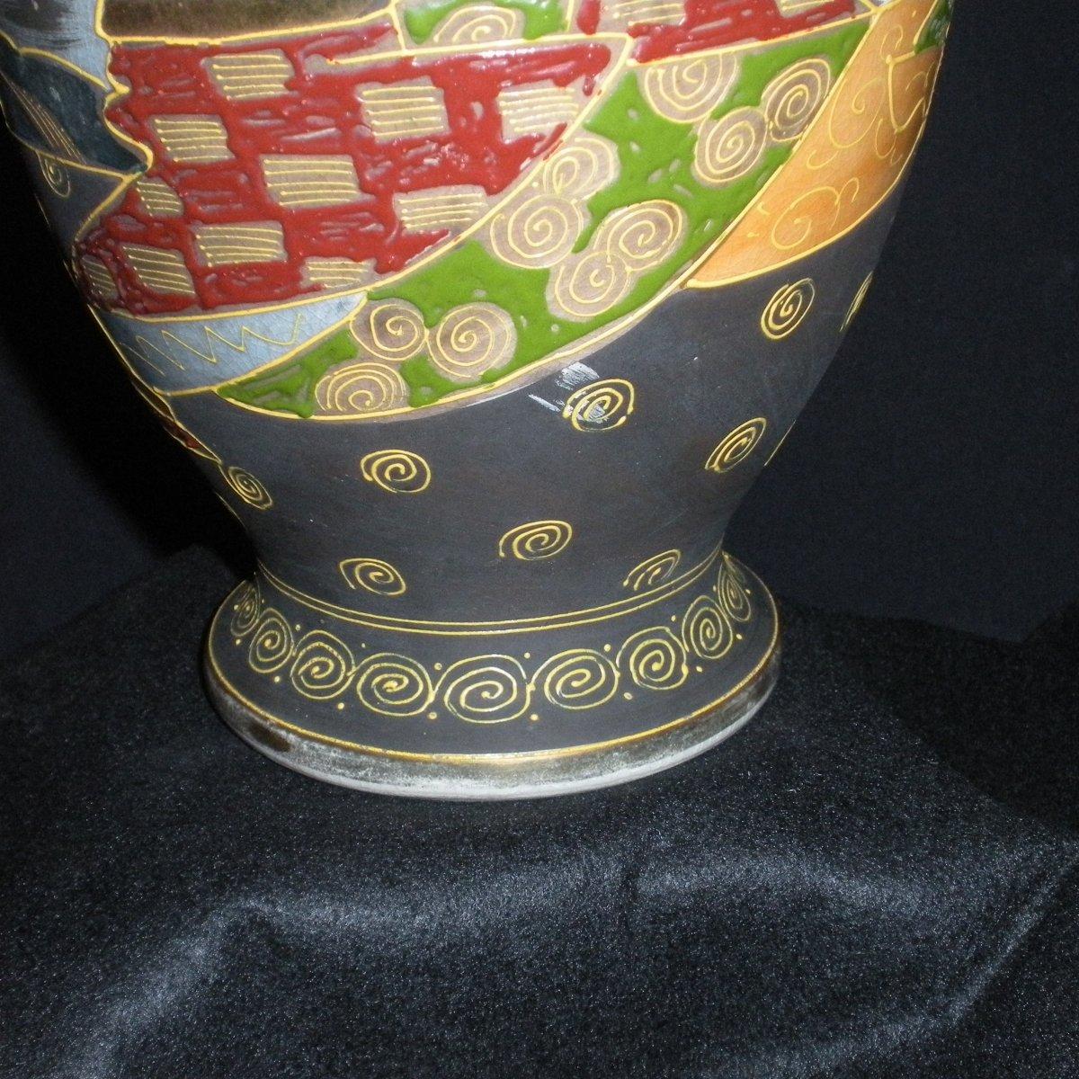 Paire de vases Satsuma début du 20ème siècle-photo-3