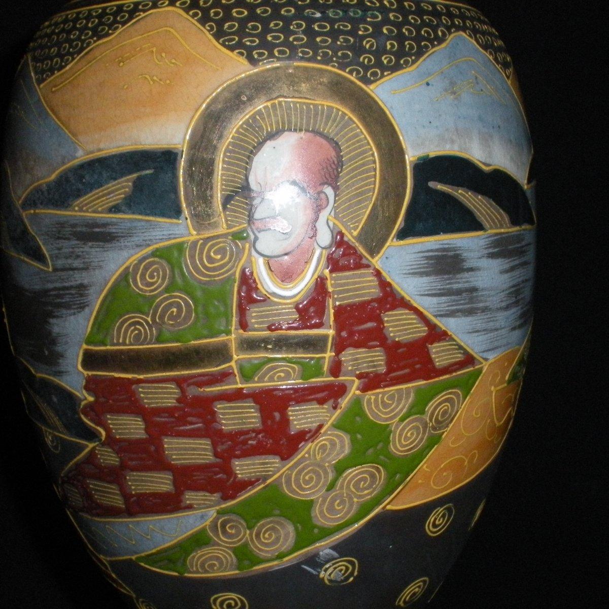 Paire de vases Satsuma début du 20ème siècle-photo-4