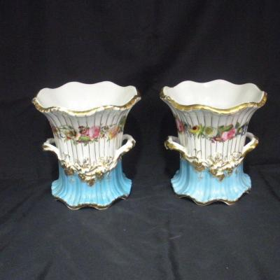 Pair Of Porcelain Vases From Old Paris