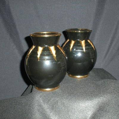 Pair Of Earthenware Vases Of Saint Clement