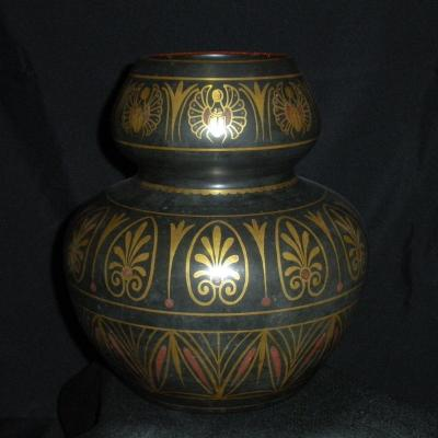 Earthenware Scarab Vase From Tours
