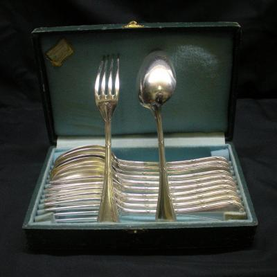 Box Of 6 Table Cutlery By Christofle