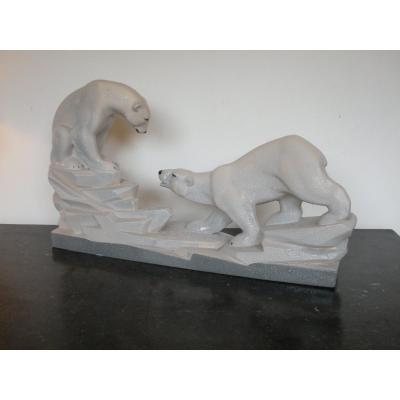 Polar Bears By Charles Lemanceau