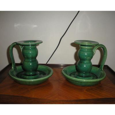 Pair Of Accolay Candlesticks