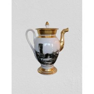 Coffee Maker In Old Paris Decor Grisaille