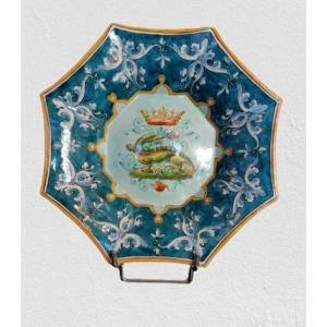 Decorative Plate In Blois Earthenware