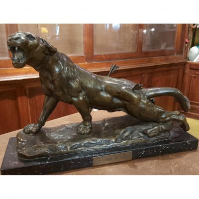 Bronze 'la Lionne Blessée'