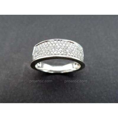 White Gold And Diamonds Ring.