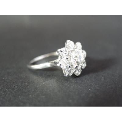 Bague Marguerite Diamants 1,65 Carat.