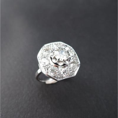 Bague Art Deco Diamants Epoque Art Déco