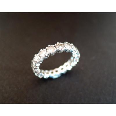 Alliance Diamants, 2 Carats, Or Blanc 18 Carats.