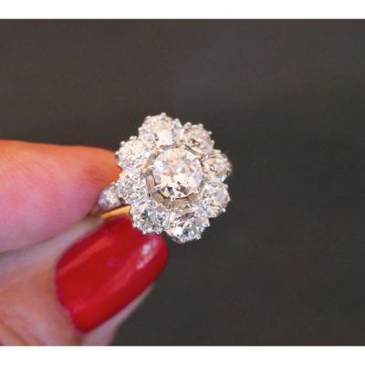 Bague Fin XIXème Siècle Diamants 2,60 Carats Au Total