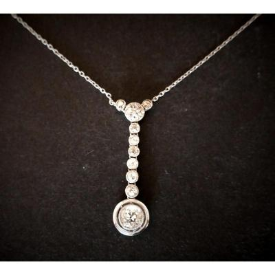 Collier Pendentif Diamant.