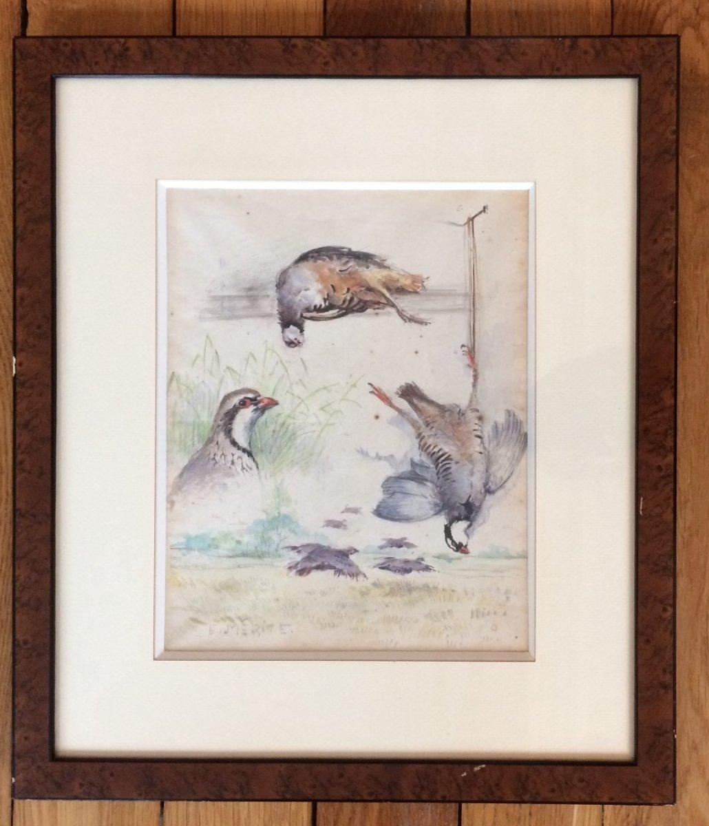 Edouard Mérite, Studies Of Partridge-photo-2
